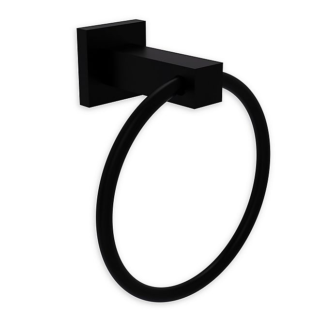 Alternate image 1 for Allied Brass Montero Collection Towel Ring in Matte Black