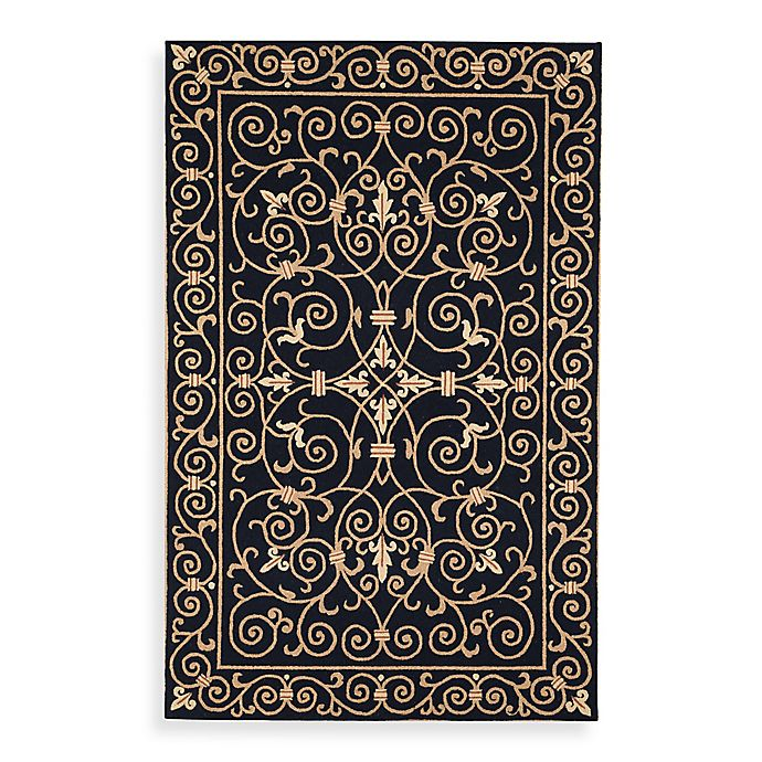 Alternate image 1 for Safavieh Chelsea Wool Accent Rugs in Black