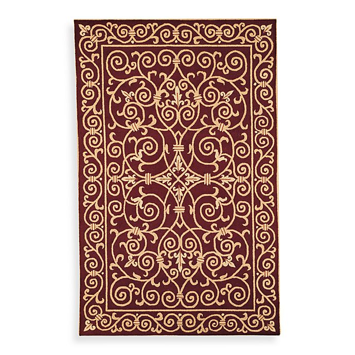 Alternate image 1 for Safavieh Chelsea Wool 2-Foot 9-Inch x 4-Foot 9-Inch Rug in Burgundy