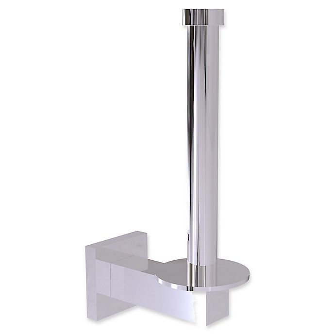 Alternate image 1 for Allied Brass Montero Collection Upright Toilet Tissue and Reserve Roll Holder in Polished Chrome