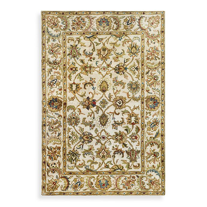 Alternate image 1 for Safavieh Classic Scroll Wool Rug in Ivory