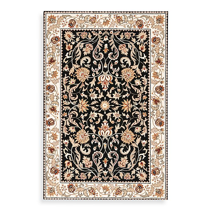 Alternate image 1 for Safavieh EZ Care Floral Rug in Navy/Ivory