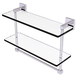 Allied Brass Montero Collection 2-Tiered Glass Shelf with Towel Bar