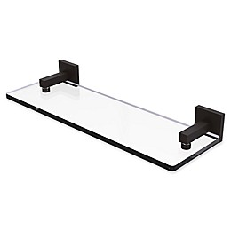 Allied Brass Montero Collection Glass Vanity Shelf with Beveled Edges