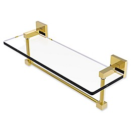 Allied Brass Montero Collection Glass Vanity Shelf with Integrated Towel Bar