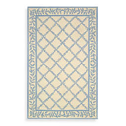 Safavieh Chelsea Wool Accent Rug in Ivory/Light Blue
