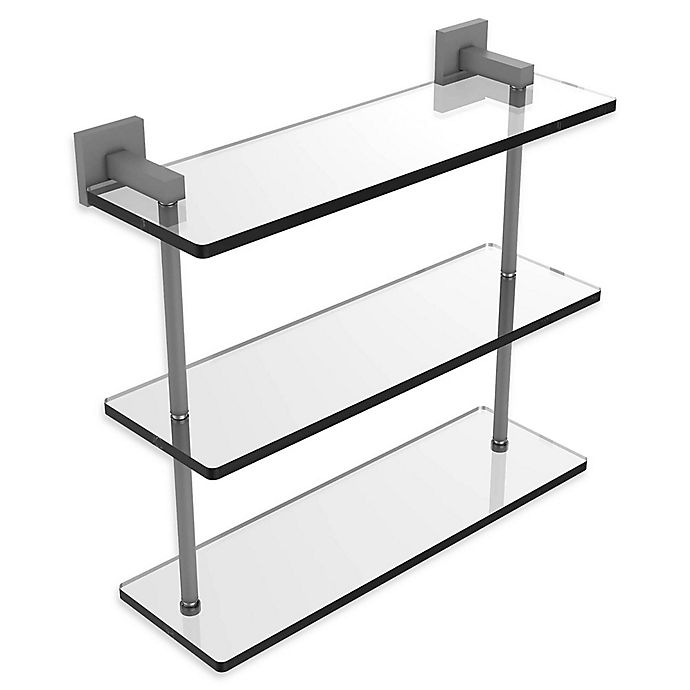 Alternate image 1 for Allied Brass Montero Collection Triple-Tiered Glass Shelf