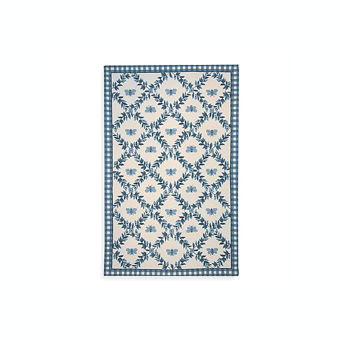 Alternate image 1 for Safavieh Chelsea Collection Blue Bee Wool Rugs