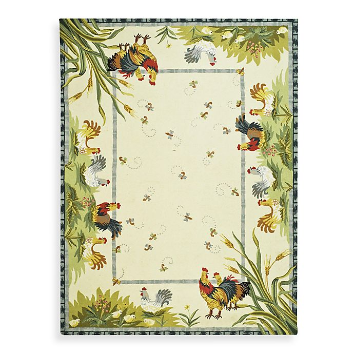 Alternate image 1 for Safavieh Chelsea Ivory Hens Wool Rugs