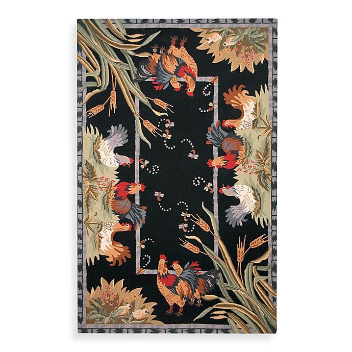Alternate image 1 for Safavieh Chelsea Black Hens Wool Rugs