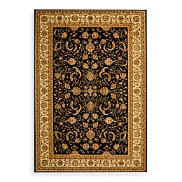 Safavieh Lyndhurst Scroll Pattern 2-Foot 3-Inch x 16-Foot Runner in Black and Ivory