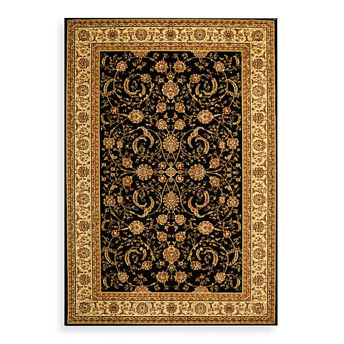 Alternate image 1 for Safavieh Lyndhurst Scroll Pattern 6-Foot Square Rug in Black and Ivory