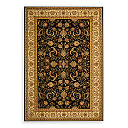 Safavieh Lyndhurst Scroll Pattern 6-Foot Square Rug in Black and Ivory