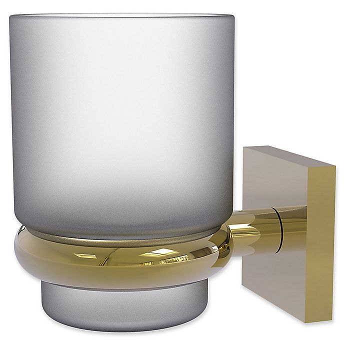 Alternate image 1 for Allied Brass Montero Collection Wall Mounted Tumbler Holder in Unlacquered Brass