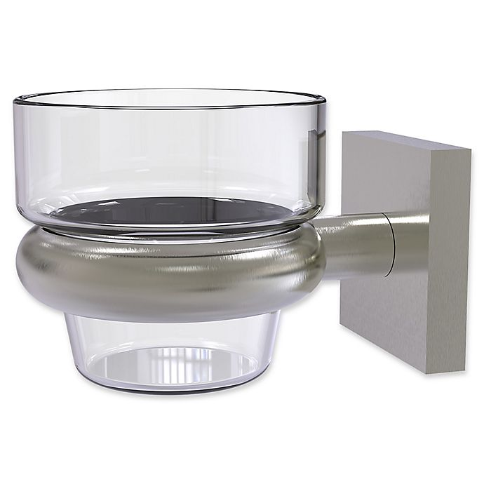 Alternate image 1 for Allied Brass Montero Collection Wall Mounted Votive Candle Holder in Satin Nickel