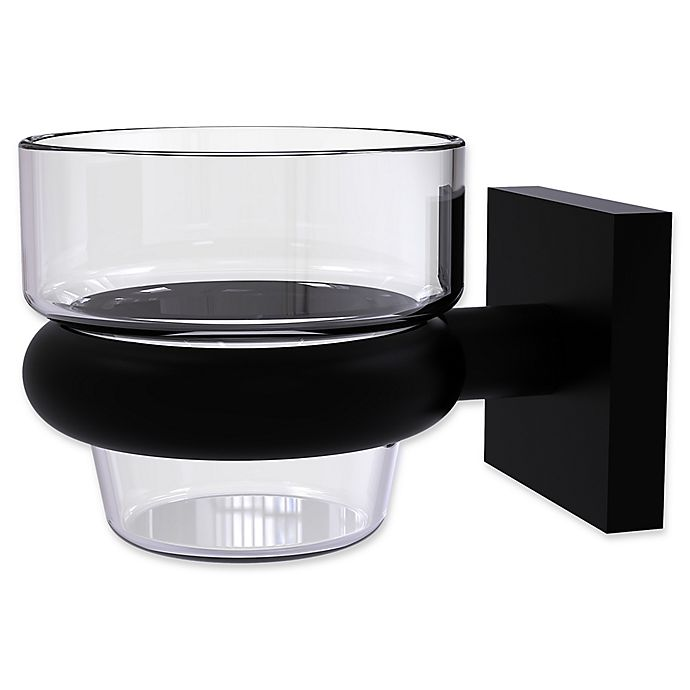 Alternate image 1 for Allied Brass Montero Collection Wall Mounted Votive Candle Holder in Matte Black