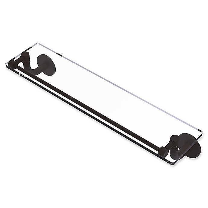 Alternate image 1 for Allied Brass Remi Collection Glass Vanity Shelf with Gallery Rail