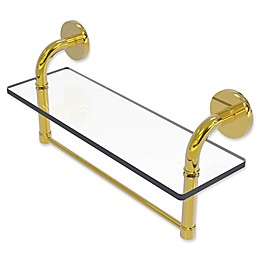 Allied Brass Remi Collection Glass Vanity Shelf with Integrated Towel Bar