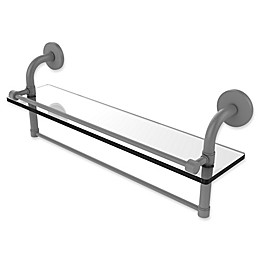 Allied Brass Remi Collection Gallery Glass Shelf with Towel Bar
