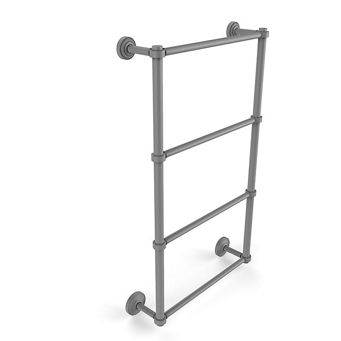 Alternate image 1 for Allied Brass Dottingham Collection 4-Tier 30-Inch Ladder Towel Bar in Matte Grey