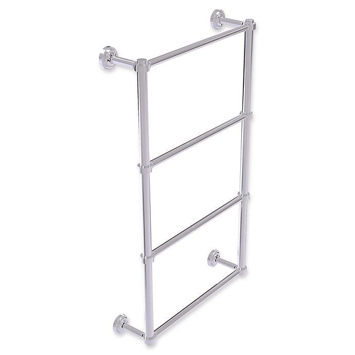 Alternate image 1 for Allied Brass Dottingham Collection 4-Tier 30-Inch Ladder Towel Bar in Polished Chrome