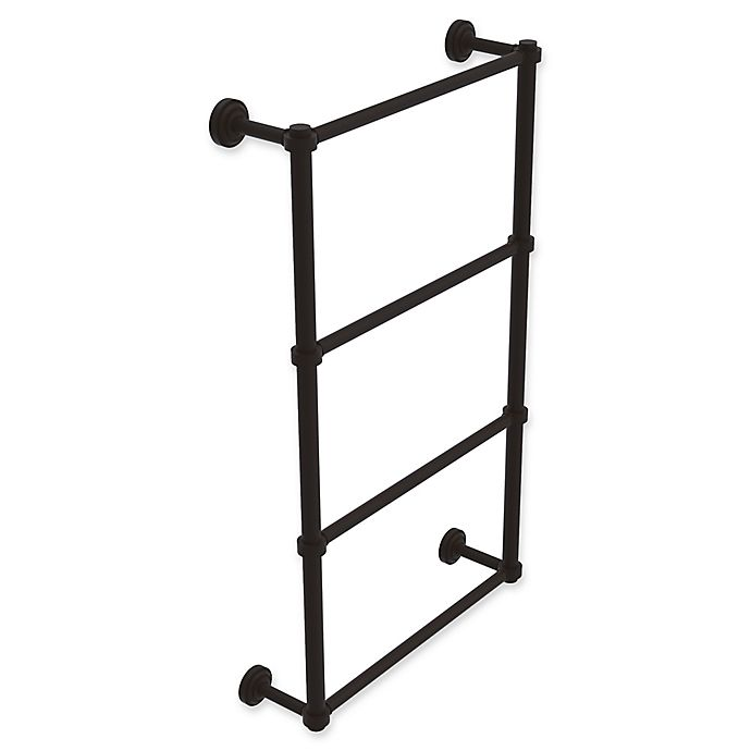 Alternate image 1 for Allied Brass Dottingham Collection 4-Tier 30-Inch Ladder Towel Bar in Oil Rubbed Bronze