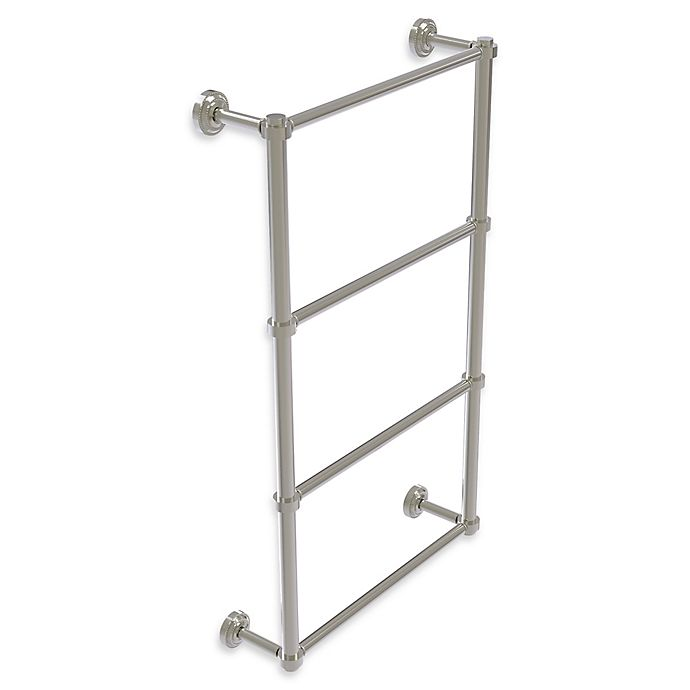 Alternate image 1 for Allied Brass Dottingham Collection 4-Tier 24-Inch Ladder Towel Bar in Satin Nickel