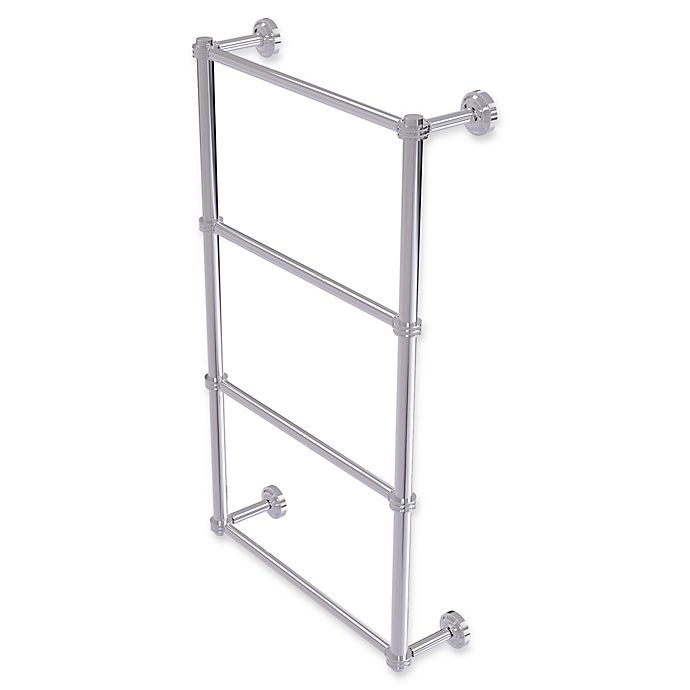 Alternate image 1 for Allied Brass Dottingham 4-Tier 30-Inch Ladder Towel Bar with Dotted Detail in Polished Chrome