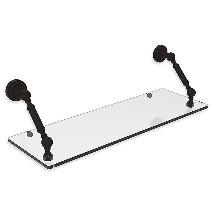 Alternate image 1 for Allied Brass Dottingham Collection 24-Inch Floating Glass Shelf in Oil Rubbed Bronze
