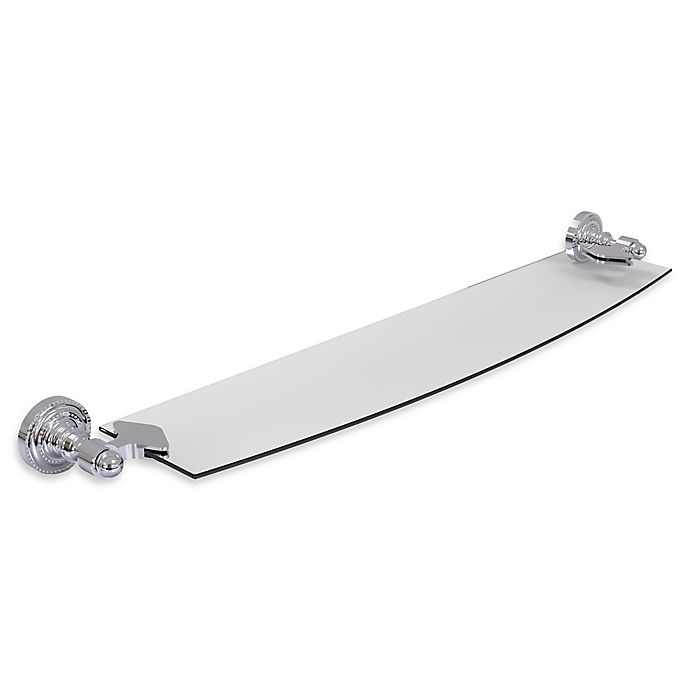Alternate image 1 for Allied Brass Dottingham Collection 24-Inch Glass Shelf in Polished Chrome