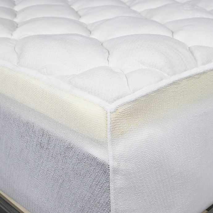 Eluxury Extra Thick Rayon From Bamboo Mattress Pad In White View A Larger Version Of This Product Image