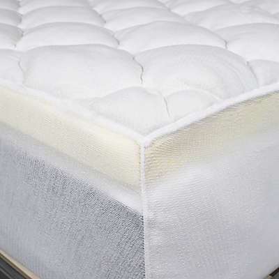 Double Thick Rayon from Bamboo Mattress Pad in White