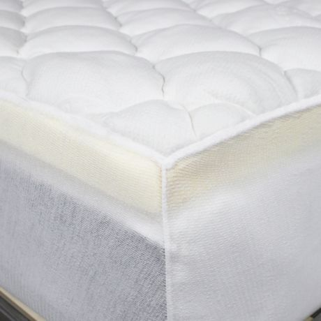 eluxury extra thick rayon from bamboo mattress pad in white bed bath beyond. Black Bedroom Furniture Sets. Home Design Ideas