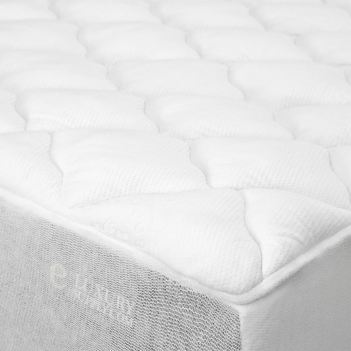 Alternate image 1 for eLuxury Rayon from Bamboo blend Mattress Pad in White