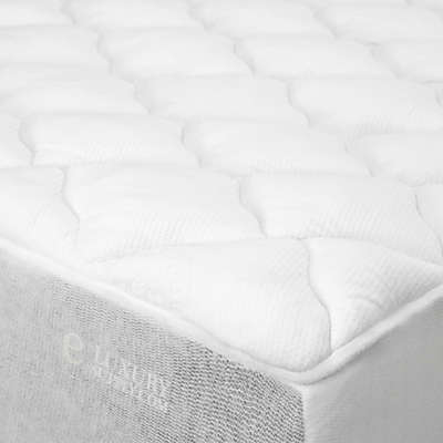 eLuxury Rayon from Bamboo blend Mattress Pad in White