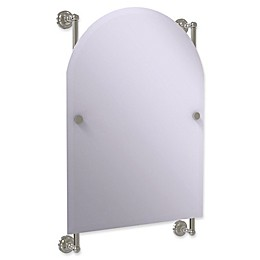 Allied Brass Dottingham Collection Arched Top Frameless Rail Mounted Mirror