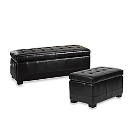 Safavieh Hudson Leather Manhattan Storage Bench - Brown