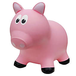Farm Hoppers Pig Inflatable Animal Bouncer in Pink