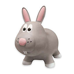 Farm Hoppers Rabbit Inflatable Animal Bouncer in Grey
