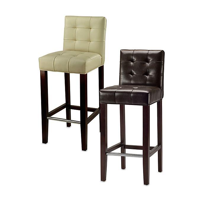 Pleasant Safavieh Mercer Modern Thompson Leather Bar Stool Bed Bath Lamtechconsult Wood Chair Design Ideas Lamtechconsultcom