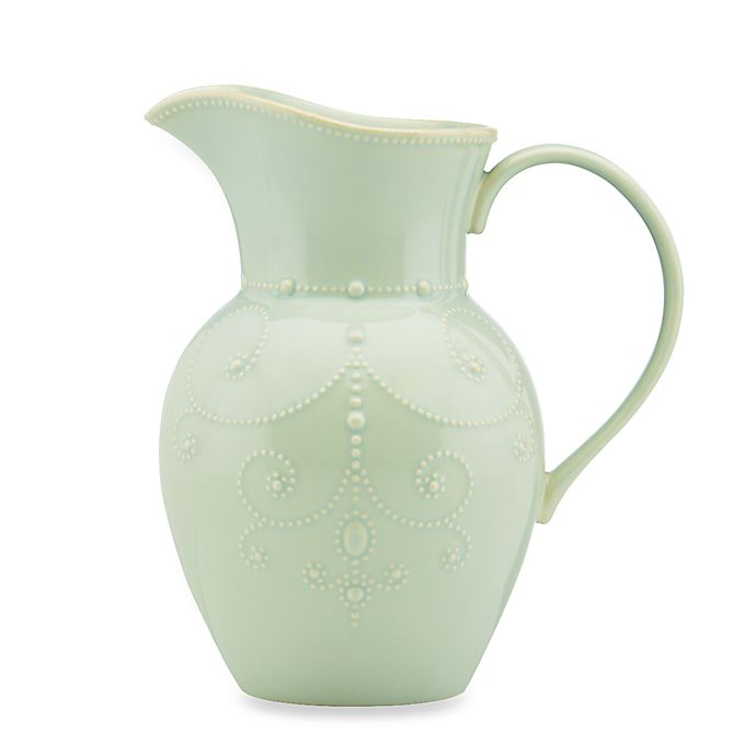 Alternate image 1 for Lenox® French Perle™ Large Pitcher in Ice Blue