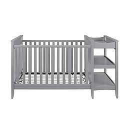 Baby Relax Emma 2-in-1 Convertible Crib and Changing Table Combo in Grey