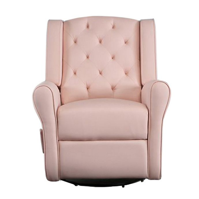 Alternate image 1 for Kidiway® Tufted Reclining Glider in Blush