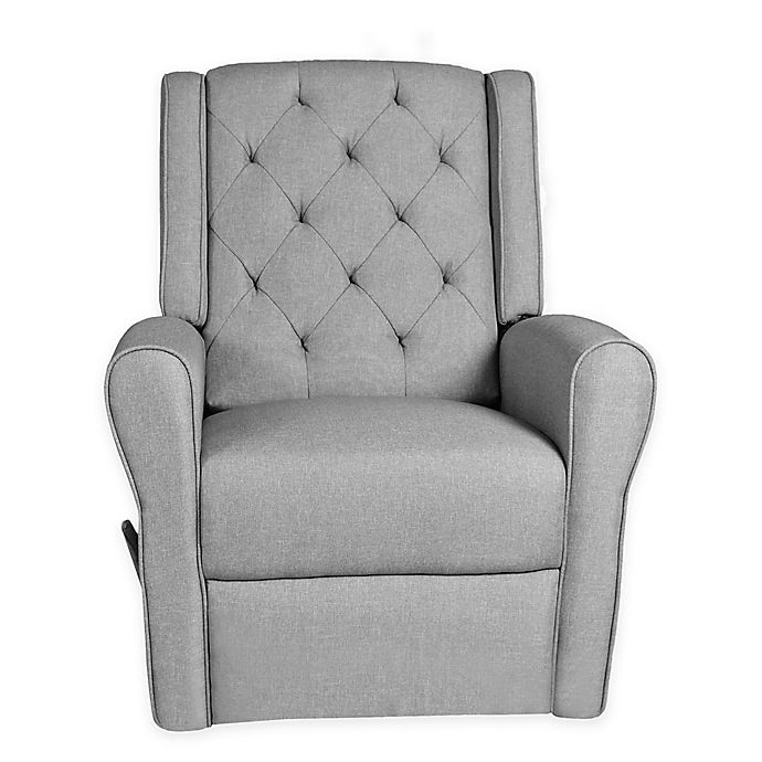 Alternate image 1 for Kidiway® Tufted Reclining Glider in Light Grey