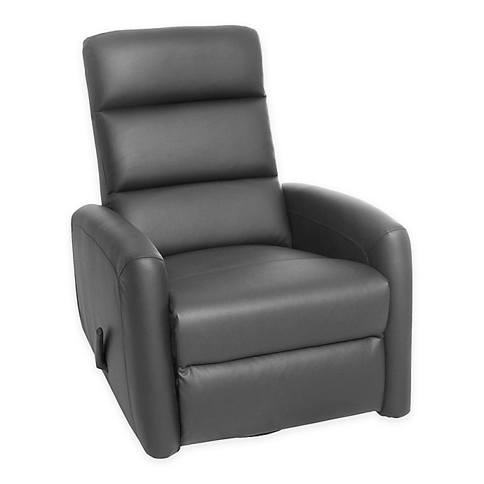 Alternate image 1 for Kidiway® Reevo Faux Leather Reclining Glider in Grey