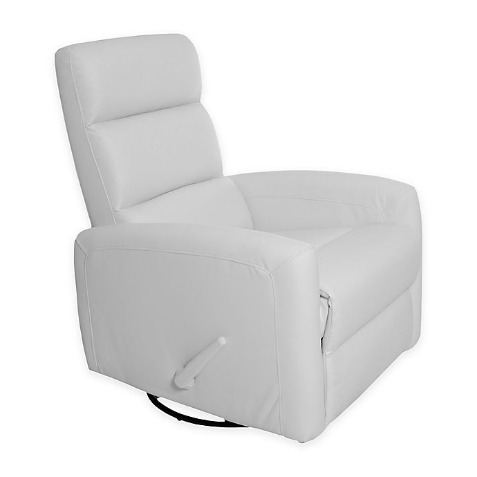 Alternate image 1 for Kidiway® Reevo Faux Leather Reclining Glider in White