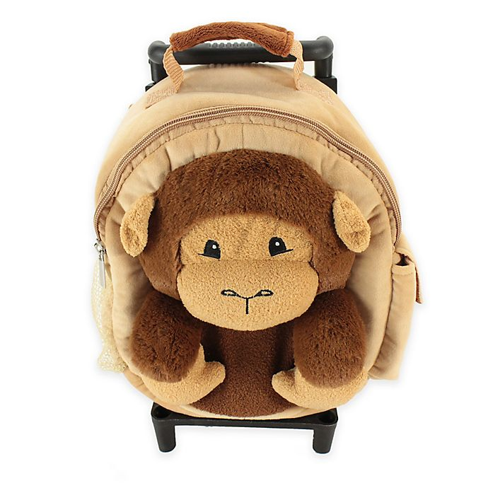 Alternate image 1 for Animal Adventure Jolly Trolley Monkey in Tan/Brown