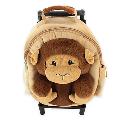 Animal Adventure Jolly Trolley Monkey in Tan/Brown