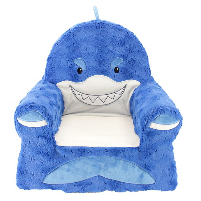 Alternate image 1 for Sweet Seats® Plush Shark Chair in Blue
