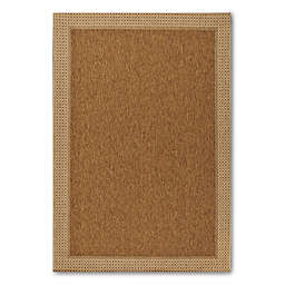 Miami Sisal 5-Foot 3-Inch x 7-Foot Indoor/Outdoor Rug in Tan